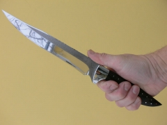 22 cm pengéjű, egyedi tervezésű kés gyűjtőknek