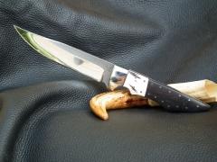 Gímaganccsal ébenfával kombinált nyelű kés